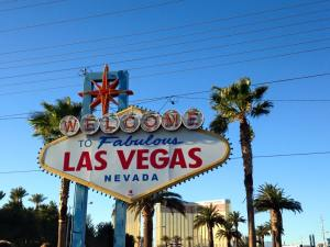 Of course, we had to visit the famous Vegas sign. I thought it would be bigger, honestly.